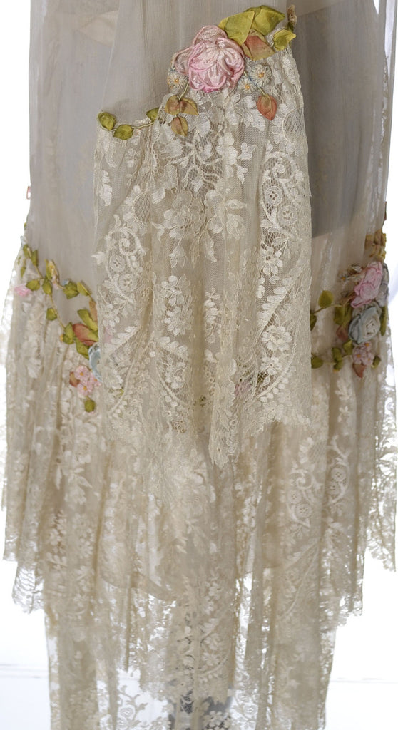 1920s Vera West vintage lace nightgown robe peignoir
