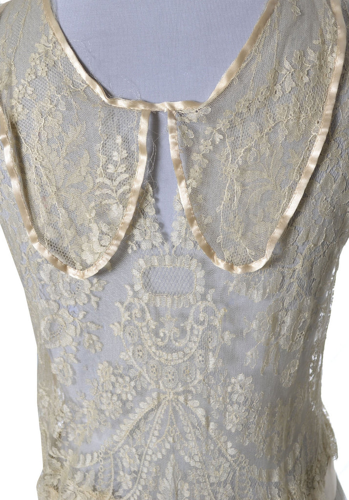 1920s Vera West Vintage lace peignoir nightgown robe rare