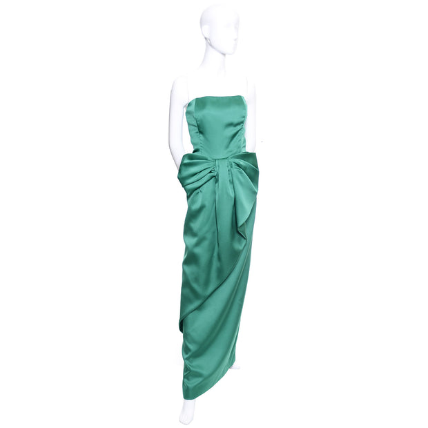 Victor Costa Floor Length Green Gown
