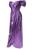Dramatic Vintage Dress Victor Costa Purple