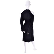 Thierry Mugler Couture Vintage 1980s Black Dress