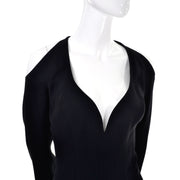 Thierry Mugler Couture Vintage Black Dress