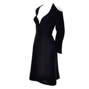 Vintage Thierry Mugler couture 1980s Little Black Dress