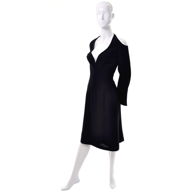Vintage Thierry Mugler Couture Dress with Exposed Shoulders