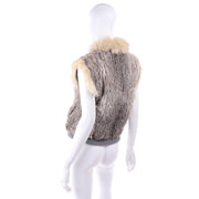 Vintage 70s Fox Fur and Rabbit Fur Zip Front Vest