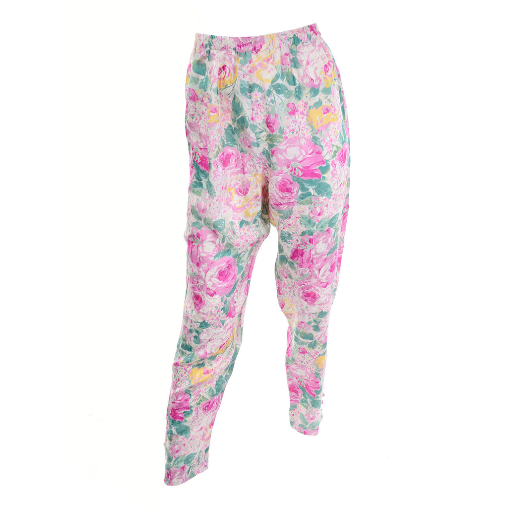 High waisted floral pants that go with a floral caftan