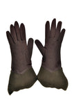 Vintage Gauntlet Gloves Brown