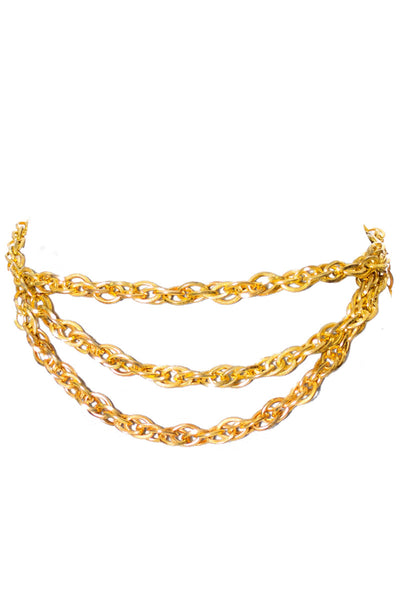 1980's Vintage Gold Metal Chain Belt Vintage - Dressing Vintage
