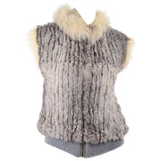Vintage Fox Fur and Rabbit Fur Zip Front Vest 1970s Early 1980s