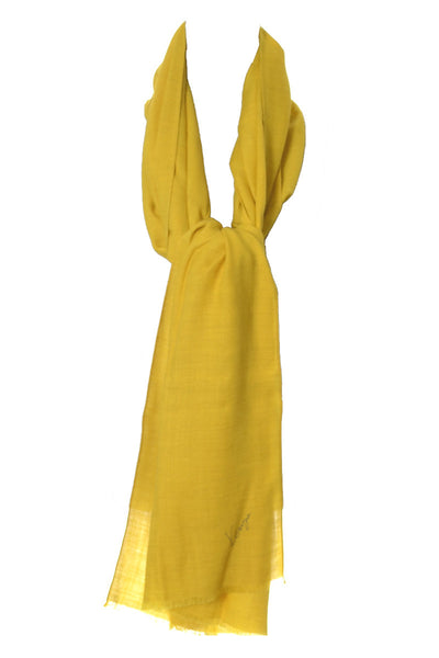 Kenzo Paris mustard yellow vintage scarf or shawl - Dressing Vintage