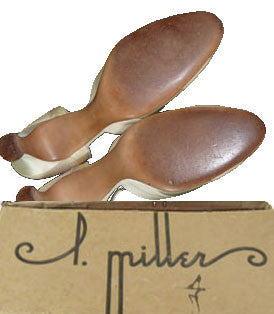 I Miller 1930s vintage satin shoes