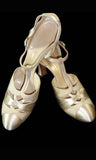 Vintage 30s wedding shoes