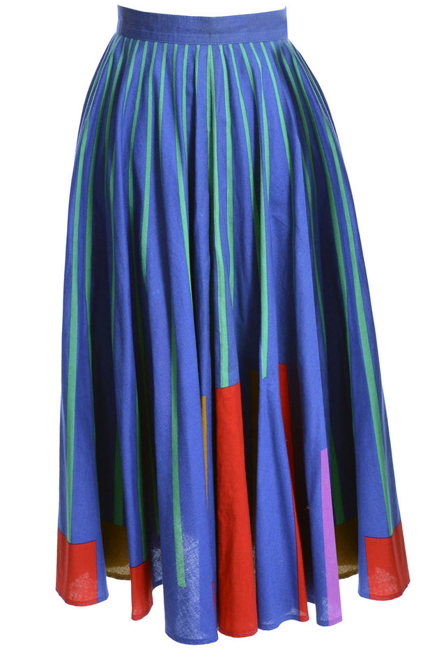 Cotton colorful vintage abstract circle skirt