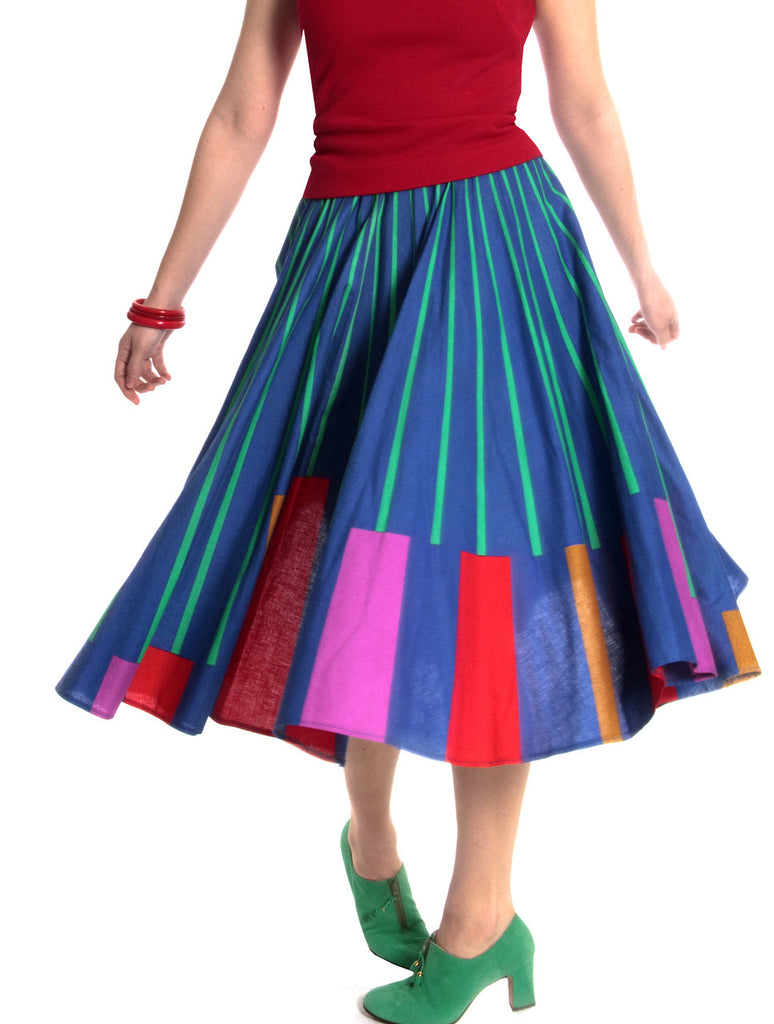 Colorful vintage skirt 1950s full circle