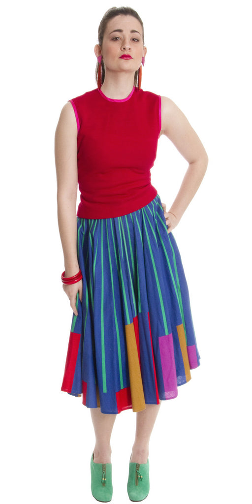vintage skirt 1950s colorful bright
