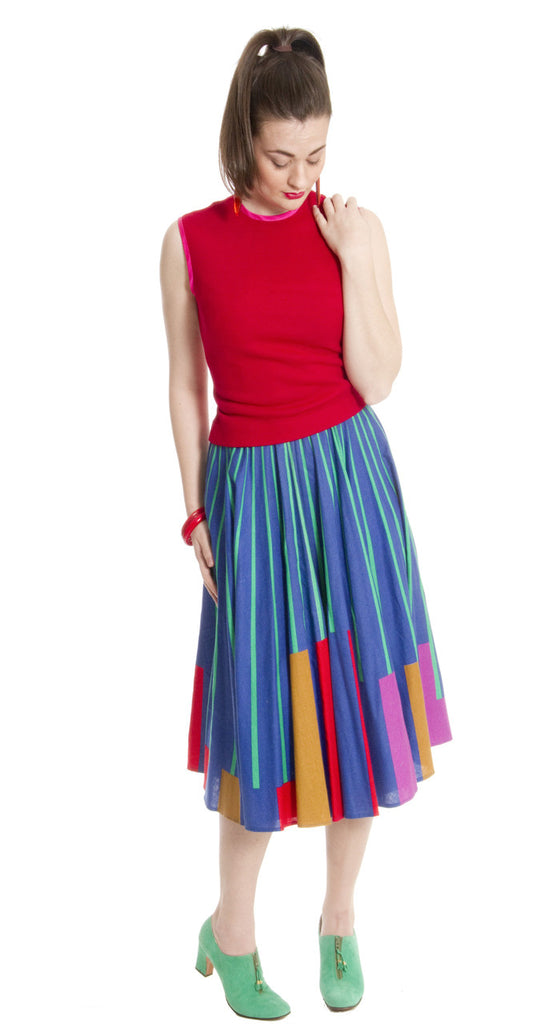 colorful vintage 1950s skirt