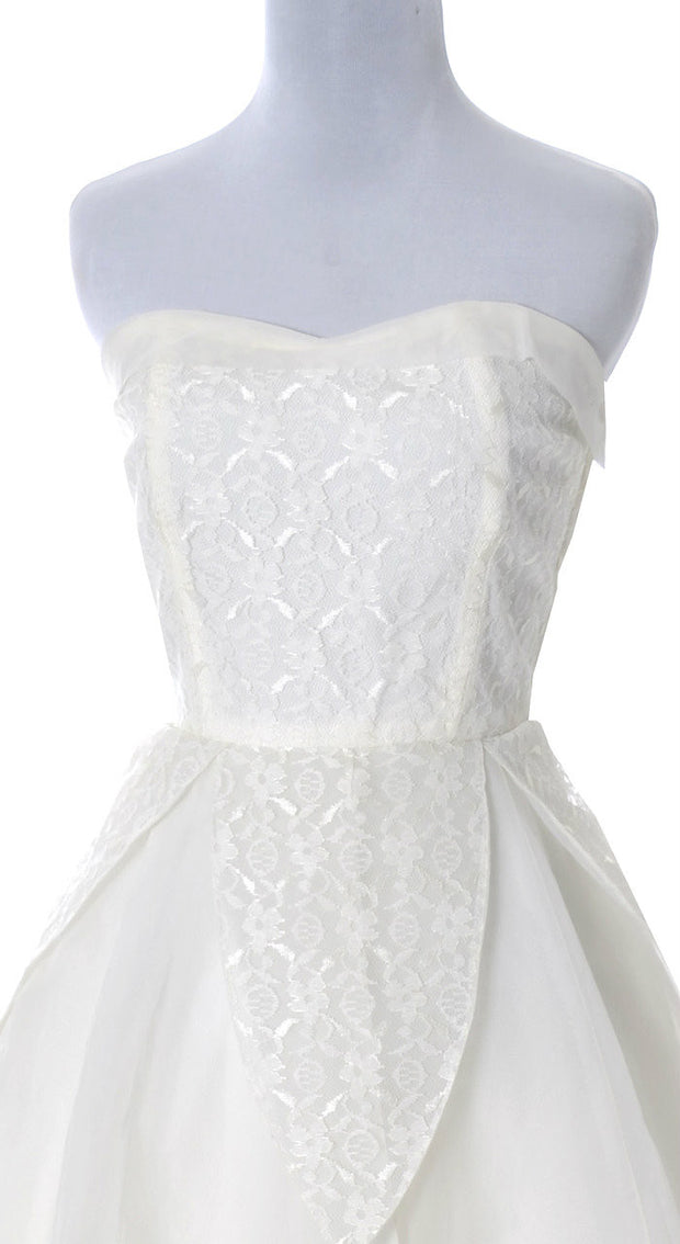 Mint Condition 1950's Strapless Vintage Wedding Dress - Dressing Vintage