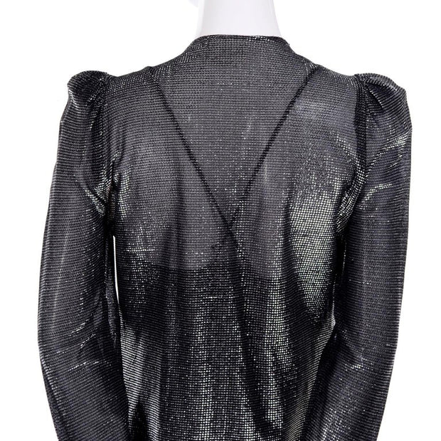 1970's vintage metallic Studio 54 jumpsuit and cardigan jacket