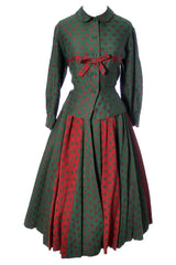 Red and Green Bavarian style Dirndl