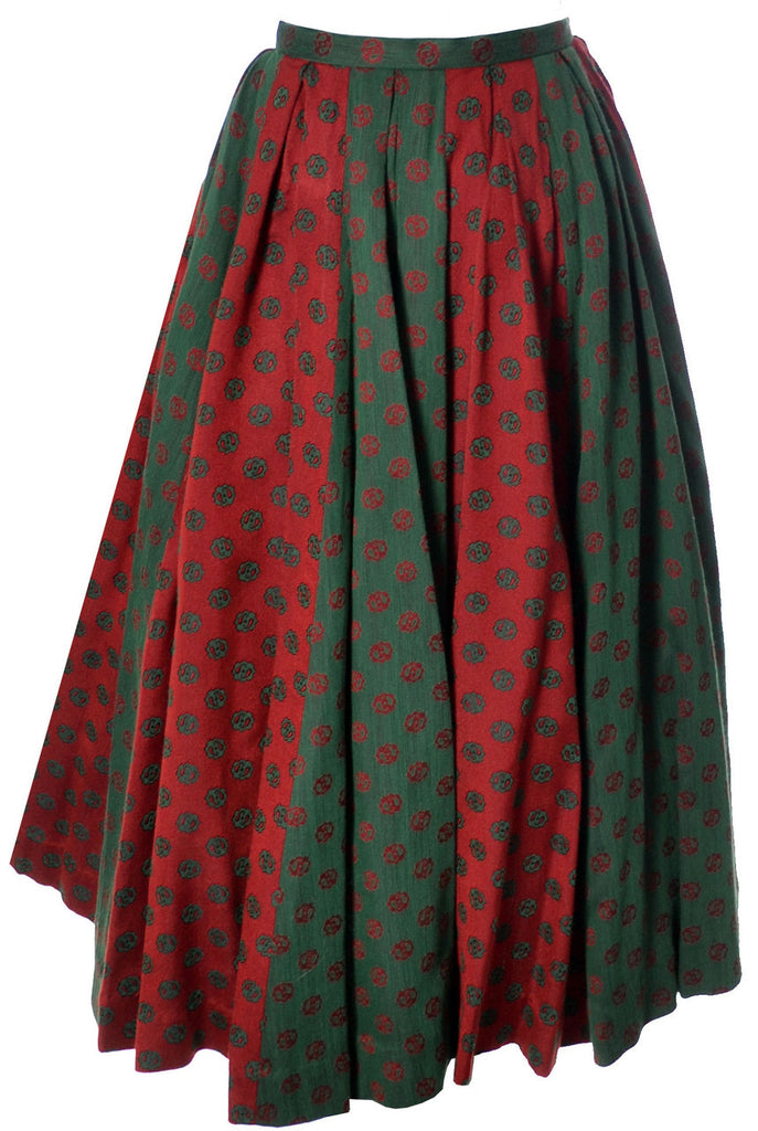 Vintage Bessie Becker 2 piece dirndl skirt and blouse