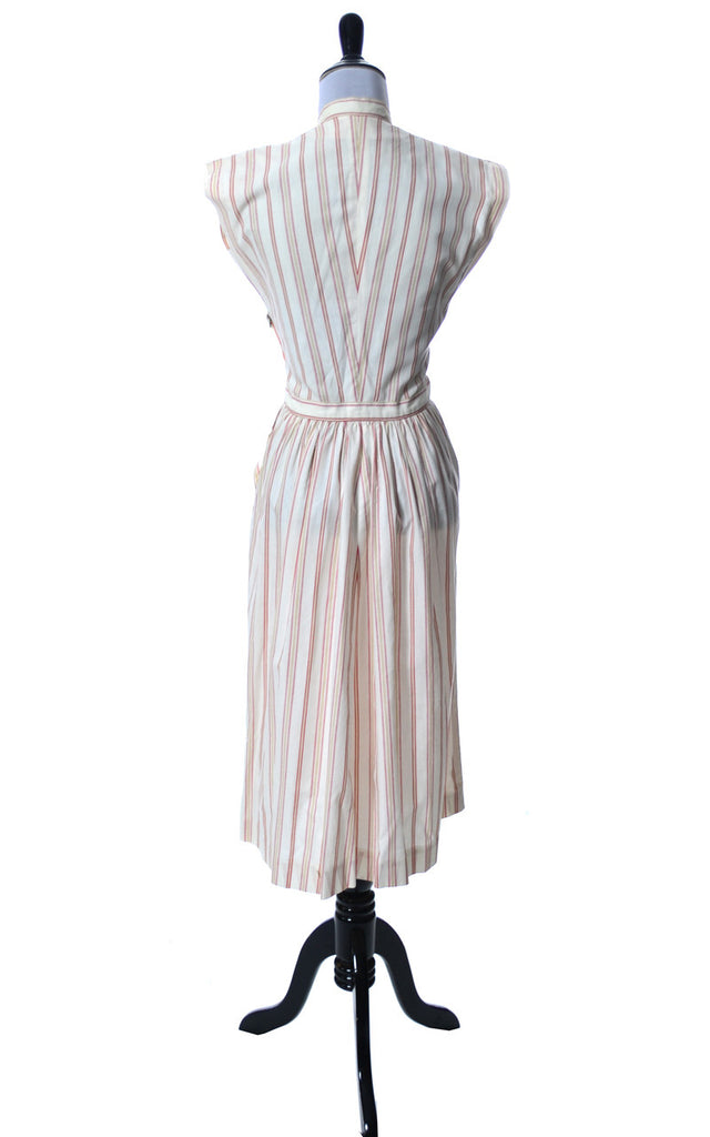 Vintage Claire McCardell Townley 1940s red and white striped Dress