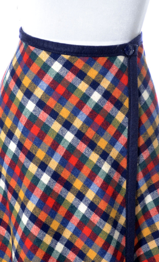 plaid wool Pendleton vintage maxi skirt knockabouts