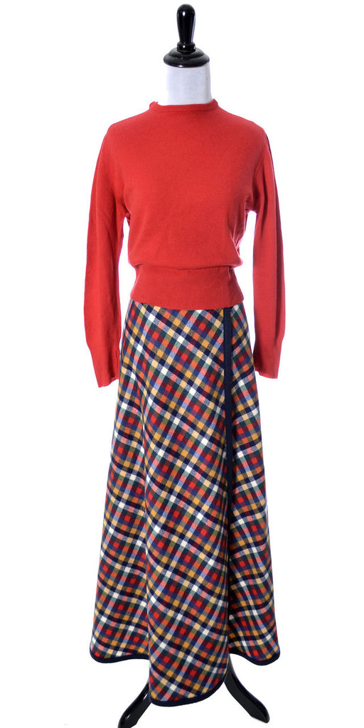 Pendleton Knockabouts vintage maxi skirt