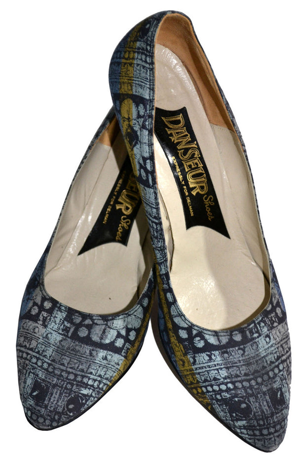 1950's Batik Style Danseur Vintage Shoes Expressly for Delman 8M - Dressing Vintage