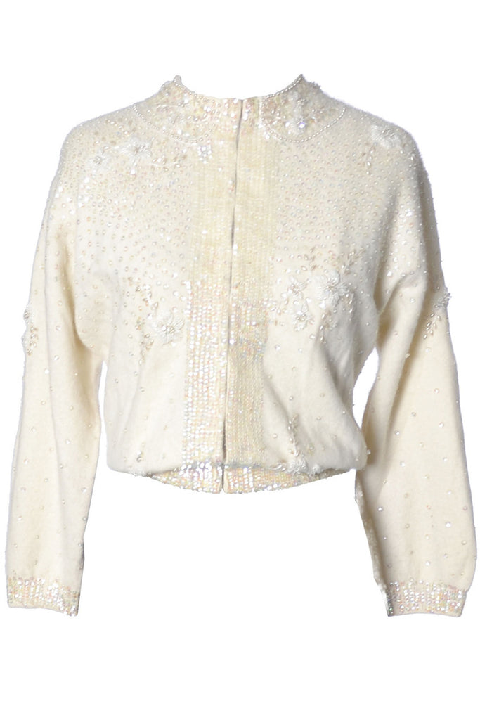 McMullen vintage beaded sweater 1950s
