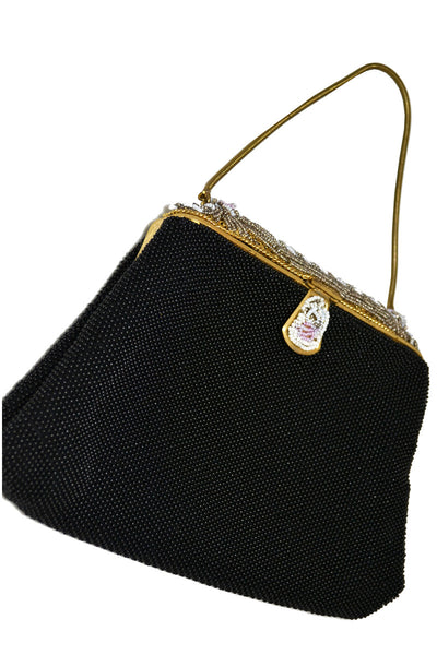 Michel Swiss Paris vintage beaded handbag evening bag - Dressing Vintage