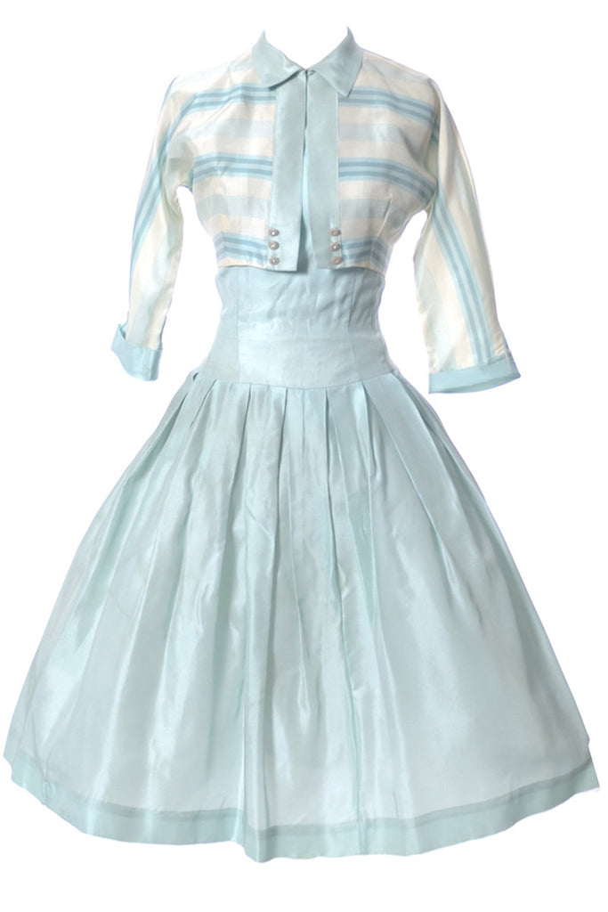 1950's blue green dress