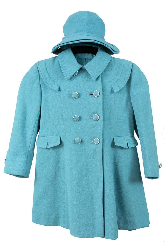 Blue vintage childs peacoat