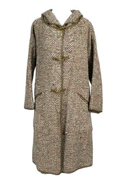 1960's Bonnie Cashin Vintage Coat in Tweed w Hood & Matching Skirt - Dressing Vintage