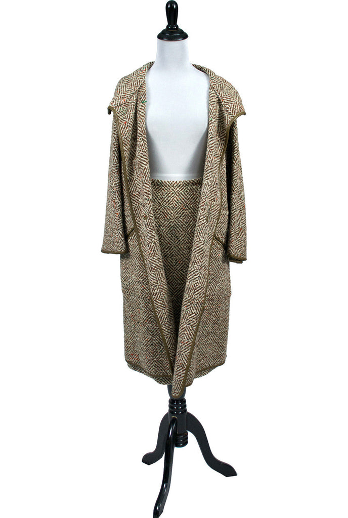 Bonnie Cashin hooded vintage coat and skirt