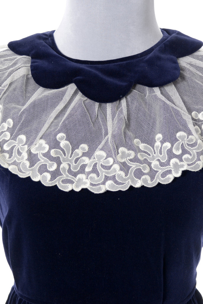 Celeste vintage child's dress with lace collar