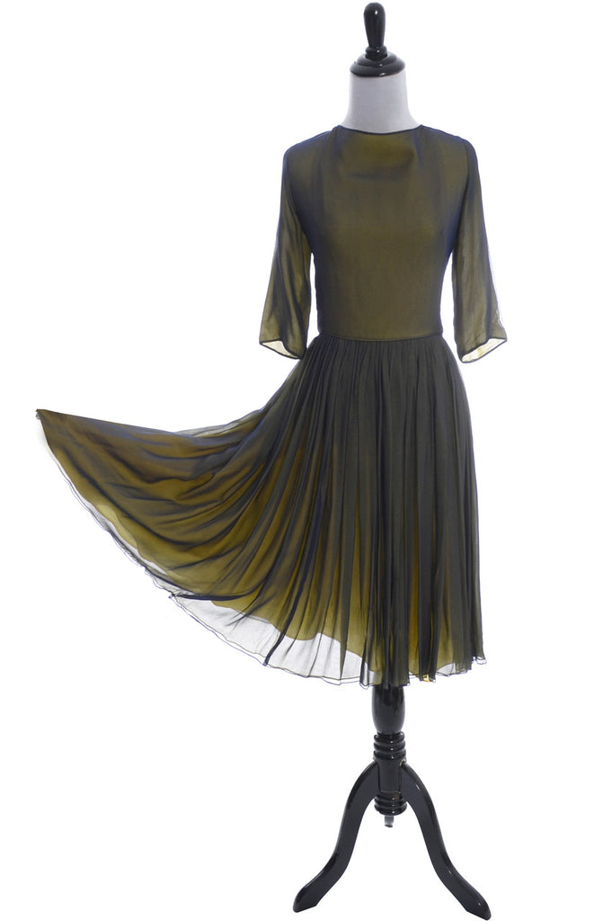 K-B Vintage chiffon dress 1960s