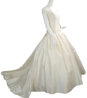 Christos New York City Vintage Wedding Dress with Rhinestones - Dressing Vintage