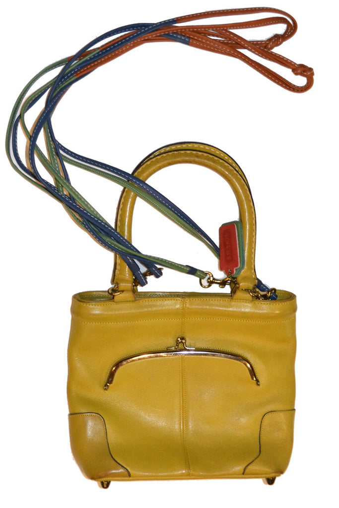 4f99414f206c Vintage Coach Handbag Bonnie Cashin in yellow leather – Dressing Vintage