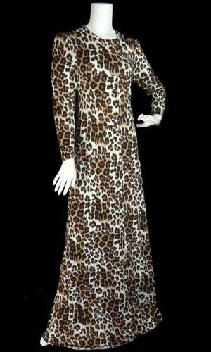 Vintage Diane Von Furstenberg Leopard print long dress SOLD - Dressing Vintage