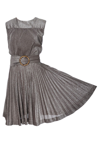 1960s R & K Originals Vintage Dress Metallic Cocktail Party - Dressing Vintage