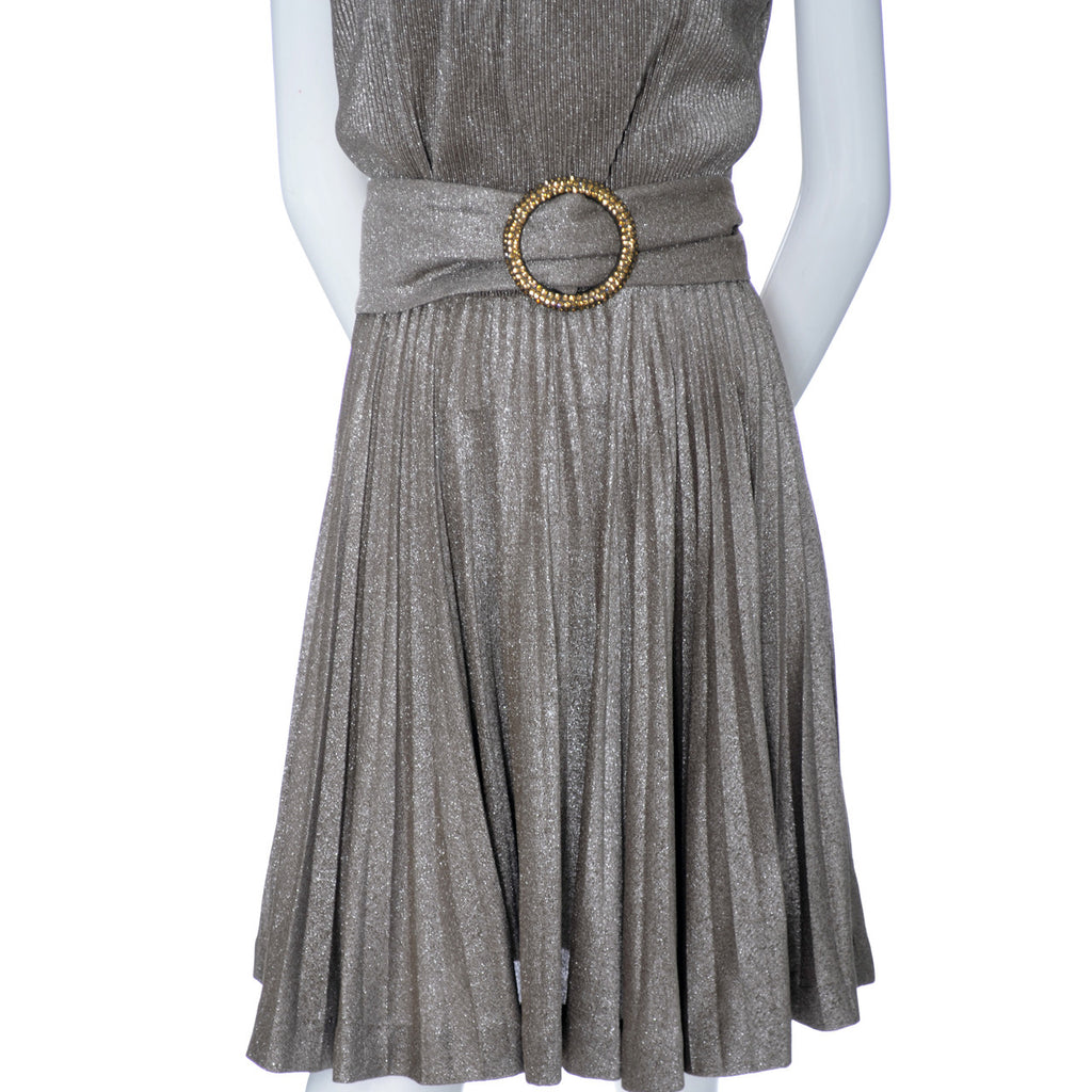 R and K Originals vintage dress metallic 60s