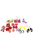 18 pair vintage earrings Pierced Metals colorful bright - Dressing Vintage