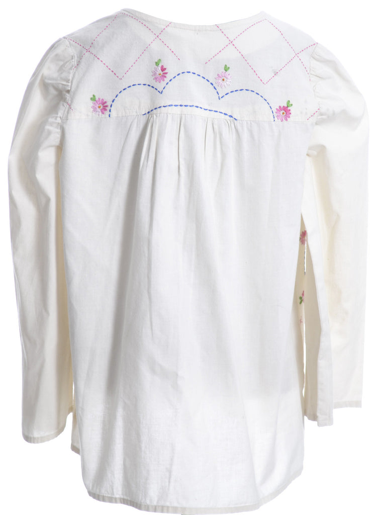 Bohemian embroidered vintage blouse top