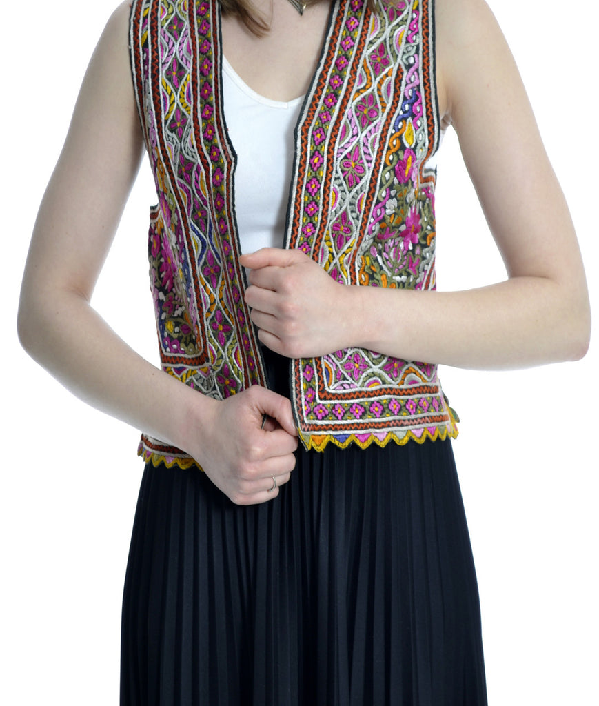 hand embroidered vintage ethnic vest