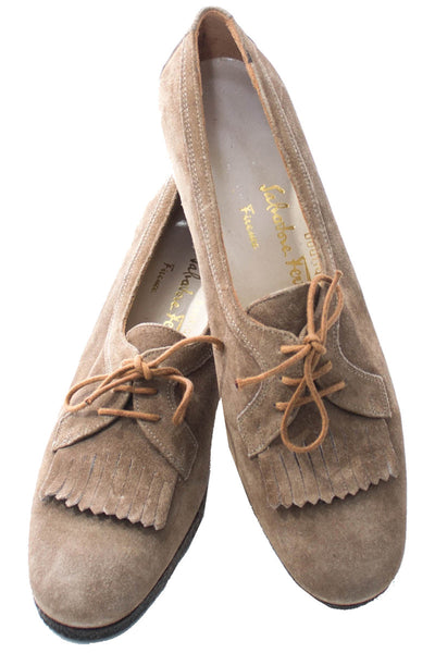 1970s Vintage Ferragamo Tassel Loafers in As New Condition 8.5 - Dressing Vintage