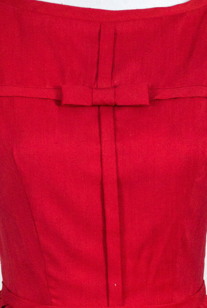 Vintage little girl's 1950s red party dress I Magnin children's collection - Dressing Vintage