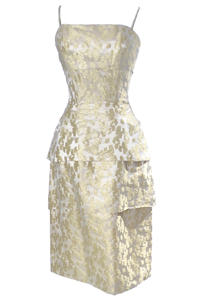1960s gold lame dress