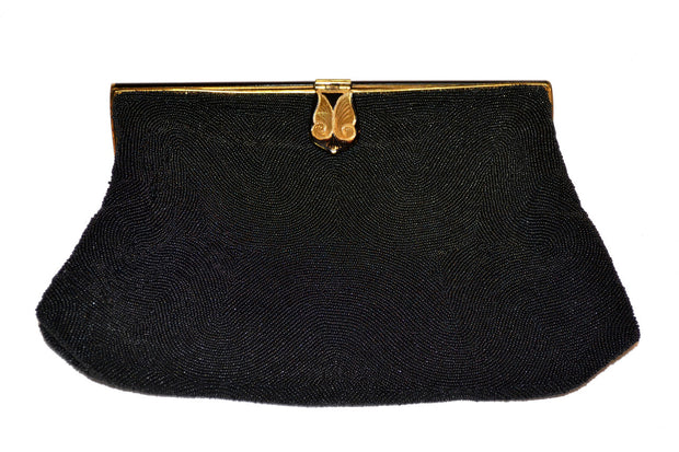 Vintage evening bag beaded handbag clutch SOLD - Dressing Vintage