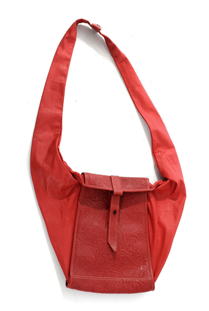red leather vintage cross body handbag bag