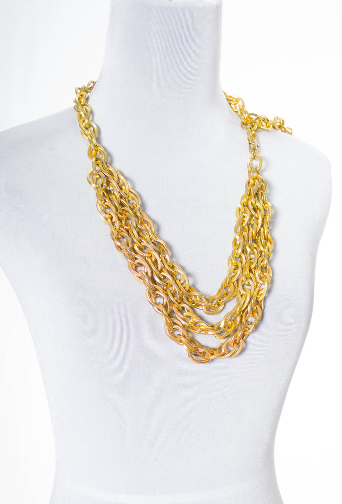Vintage 1980s gold chain belt or necklace